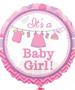 With Love Baby Girl Foil Balloon