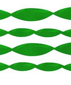 Jumbo Green Crepe Paper Streamer