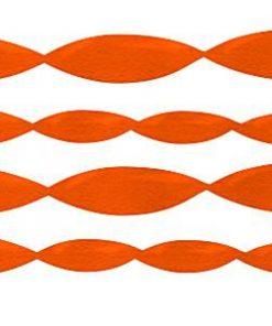 Jumbo Orange Crepe Paper Streamer