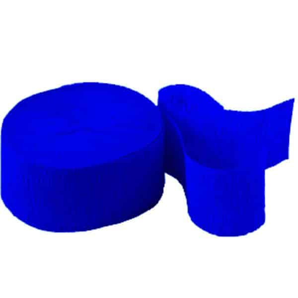 Jumbo Royal Blue Crepe Paper Streamer
