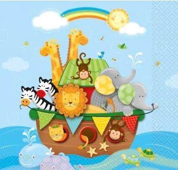 Noah's Ark Party Paper Napkins
