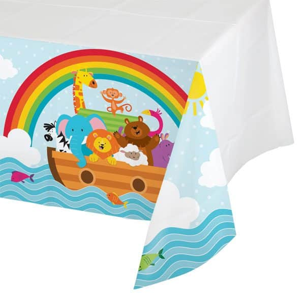 Noah's Ark Party Plastic Tablecover