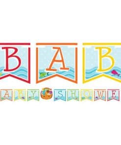 Noah's Ark Party Ribbon Baby Shower Banner