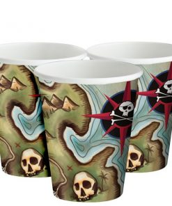 Pirate's Map Party Paper Cups
