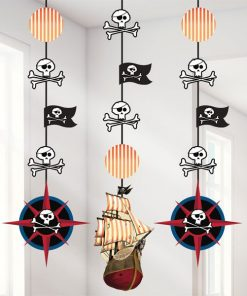 Pirate's Map Party Hanging Cutouts Decorations