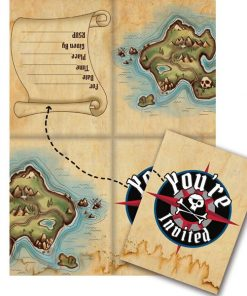 Pirate's Map Party Invitations