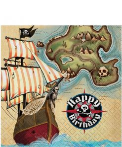 Pirate's Map Party Paper Napkins