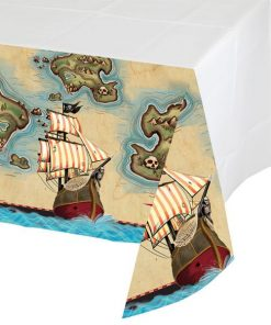 Pirate's Map Party Plastic Tablecover