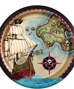 Pirate's Map Party Paper Plates