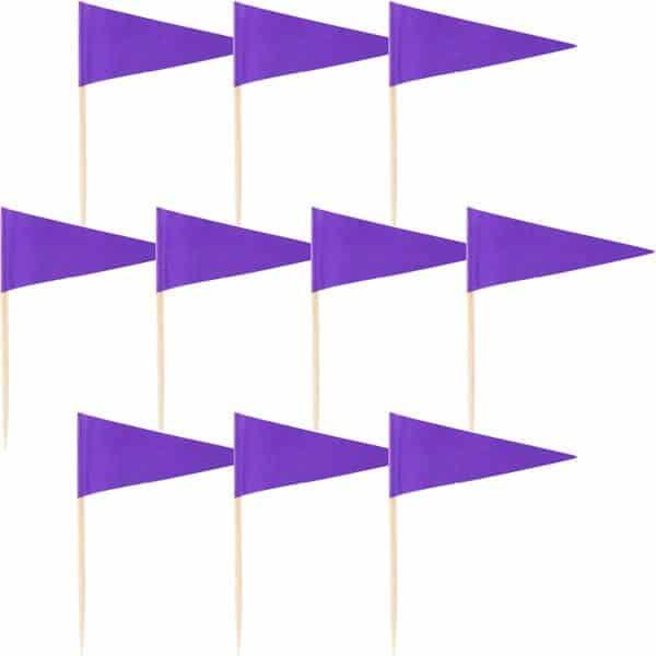 Purple Cake Picks