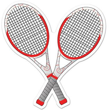 Tennis Party Tennis Racquets Cutout