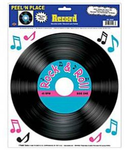 Rock N Roll Grease Party 1950's Record Add-On Decoration