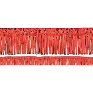 Red Metallic Fringe Garland Decoration