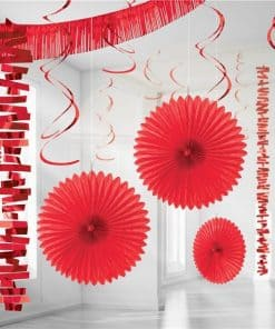 Red Paper & Foil Room Decorating Kit