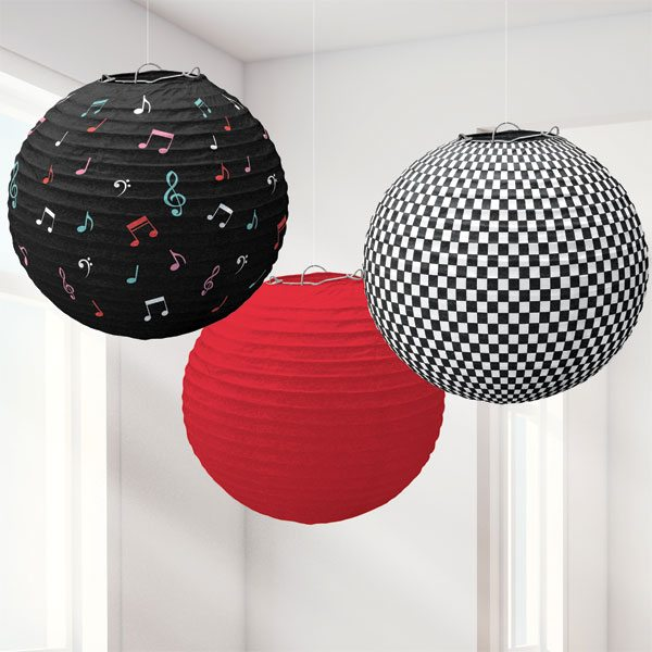 Rock N Roll Grease Party 50's Classic Paper Lanterns