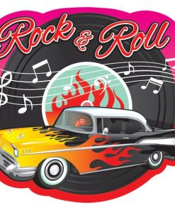 Rock N Roll Grease Party 50s Classic Cutout Decoration