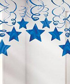 Royal Blue Star Hanging Swirls