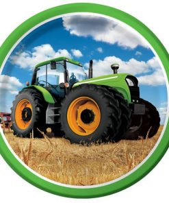 Tractor Time Party Paper Plates