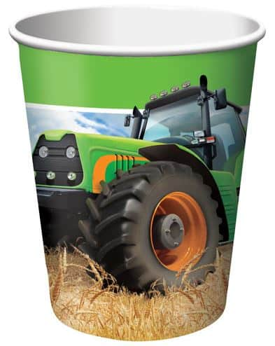 Tractor Time Party Paper Cups