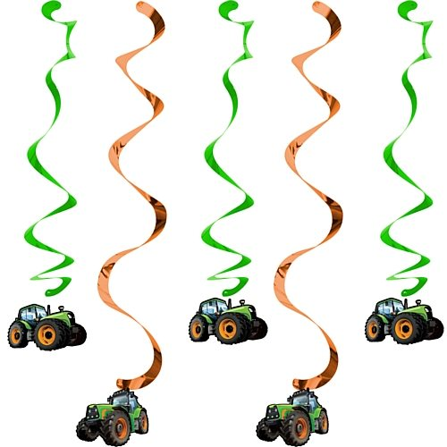 Tractor Time Party Dizzy Danglers Hanging Decorations