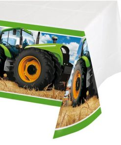 Tractor Time Party Plastic Tablecover
