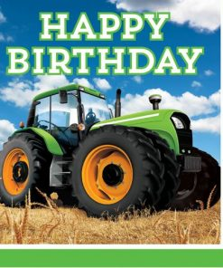 Tractor Time Party Paper Napkins