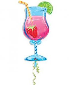 Tropical Cooler Cocktail Shaped Foil Balloon