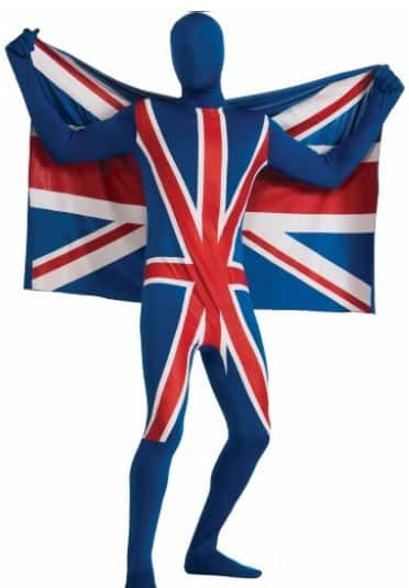Union Jack Second Skin Adult Costume