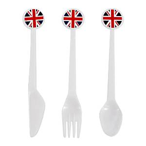 Union Jack Assorted Plastic Cutlery