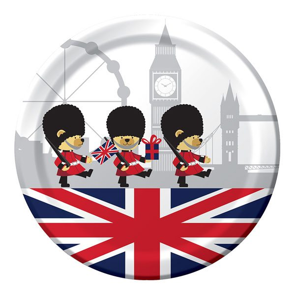 Union Jack Be Royal Party Paper Plates