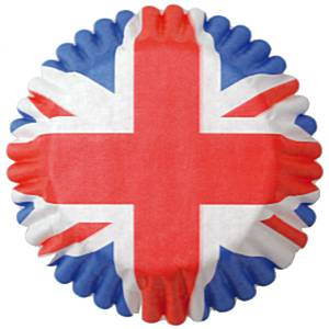 Union Jack Party CupCake Cases