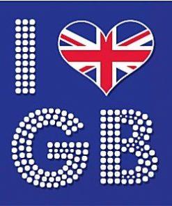 Union Jack 'I Love GB' Napkins