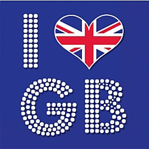 Union Jack 'I Love GB' Napkins