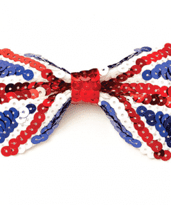 Union Jack Sequin Bow Tie