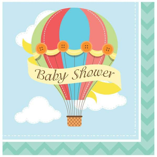 Up, Up and Away Party Paper Baby Shower Napkins
