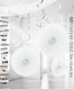 White Paper & Foil Room Decorating Kit