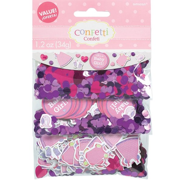 Girl's Shower With Love Party Confetti Pack