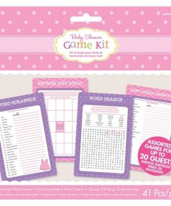 Girl's Shower With Love Party Game Kit