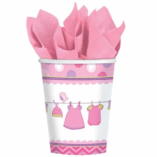 Girl's Shower With Love Party Paper Cups
