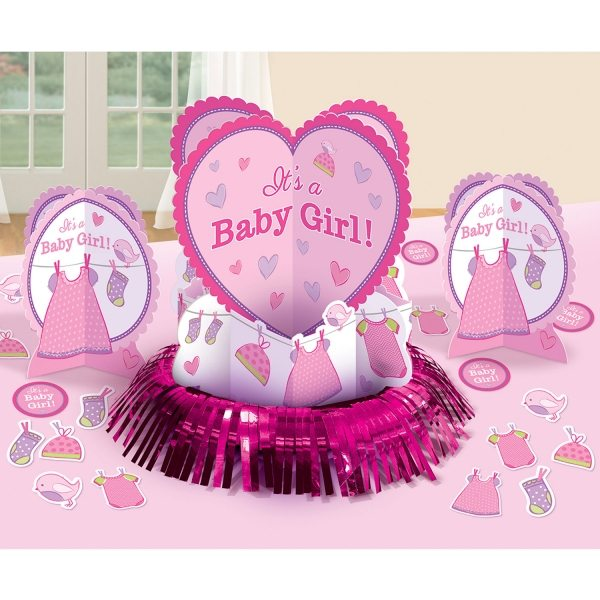 Girl's Shower With Love Party Table Decorating Kit