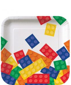 Block Party Square Paper Plates