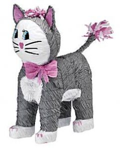 Grey Cat Pinata