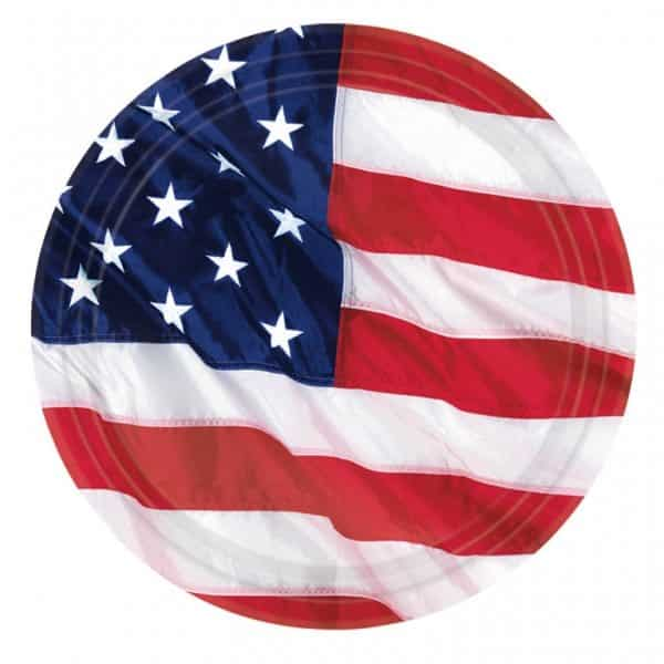 USA American Flag Paper Party Plates
