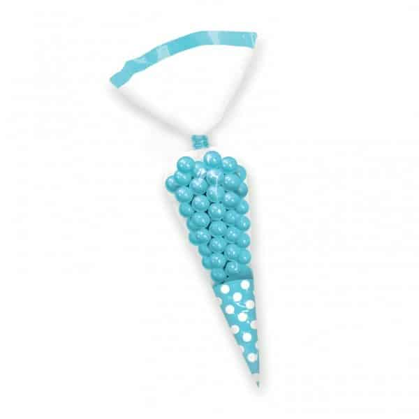 Turquoise Caribbean Blue Cellophane Cone Sweet Bags