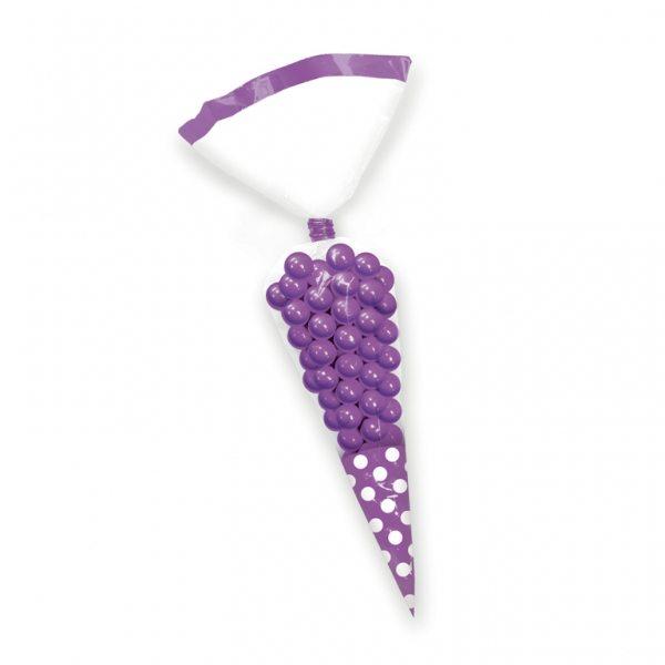 Purple Cellophane Cone Sweet Bags