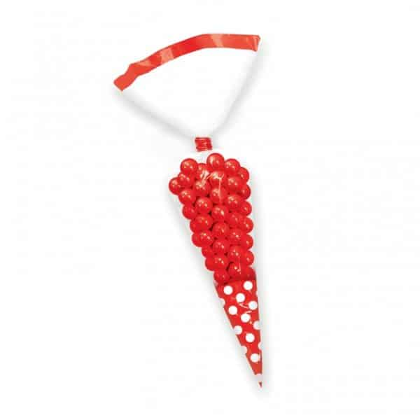 Red Cellophane Cone Sweet Bags