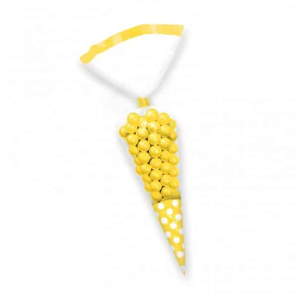 Yellow Cellophane Cone Sweet Bags
