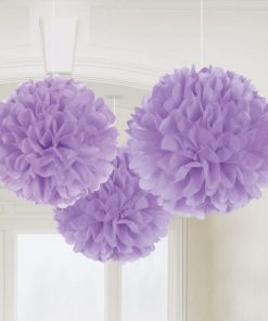 Lilac Pom Pom Party Decorations