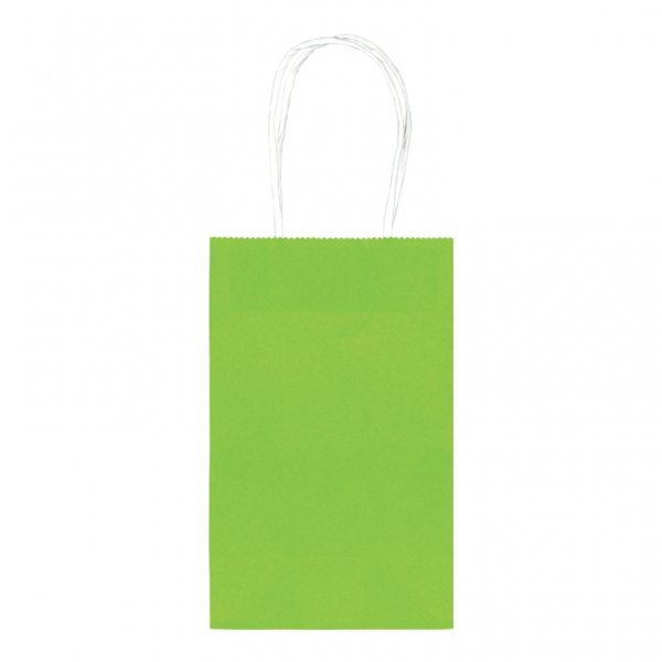 Lime Green Small Paper Party Bags