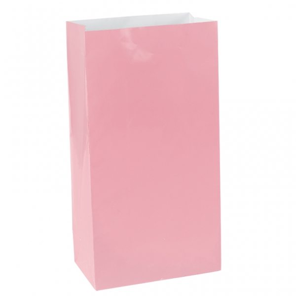 Baby Pink Mini Paper Party Gift Bags